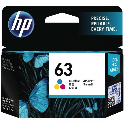 Mực HP 63 Tri-color Original Ink Cartridge (F6U61AA)