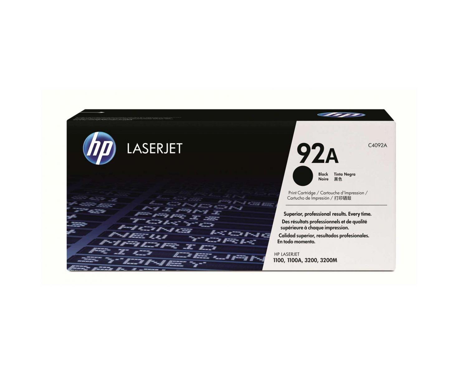 Mực in HP 92A Black LaserJet Toner Cartridge (C4092A)