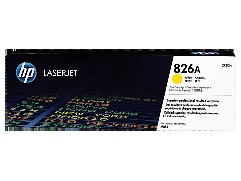 Mực in Laser màu vàng HP 826A Yellow Original LaserJet Toner Cartridge (CF312A)