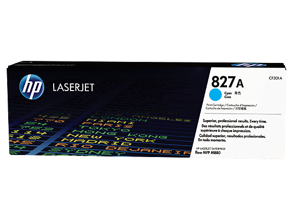 Mực in Laser màu xanh HP 827A Cyan Original LaserJet Toner Cartridge (CF301A)